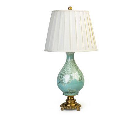 Lampada da tavolo vintage isolata su sfondo bianco Archivio Fotografico