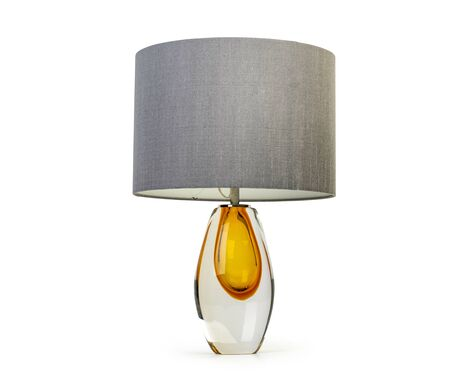 Elegant table lamp isolated on white background Stockfoto