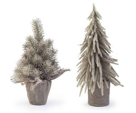 Miniature chritmas tree isolated on white background, Clipping path included