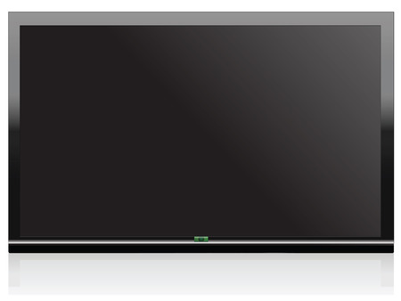 Illustration Wide Screen Plasma Stock Vector - 6981572