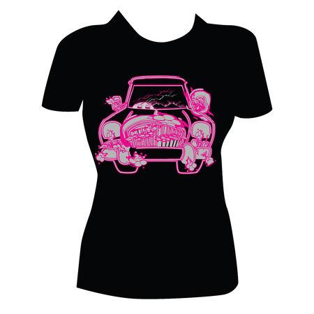 T-shirt Design for Women Illustration