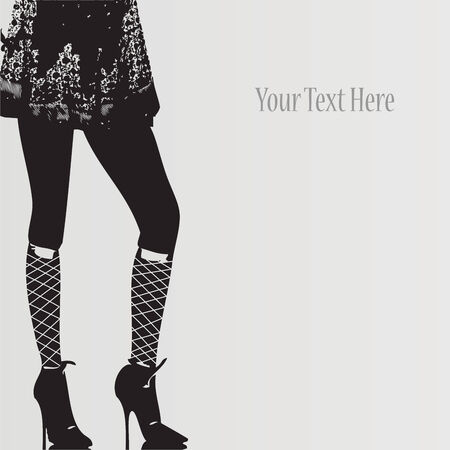business shoes: Illustration Fashion Vintage Girl