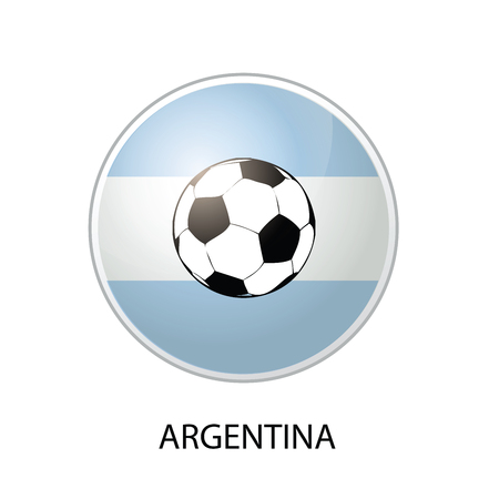 Illustration of Argentina Soccer Icon isolated on white Vector