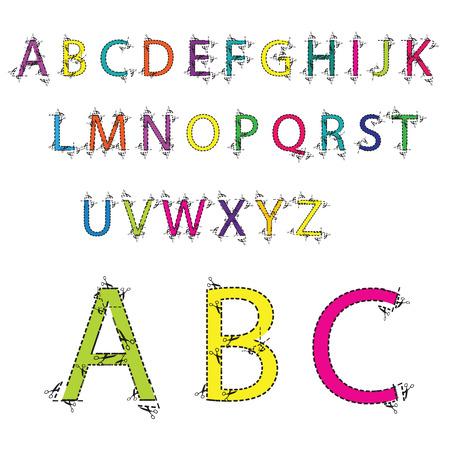tatter: alphabet illustration