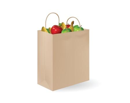 grocery bag Stock Vector - 11196857