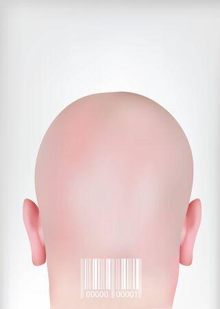 Head with bar codes Vector