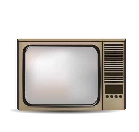 television isolated Stock Vector - 11196847