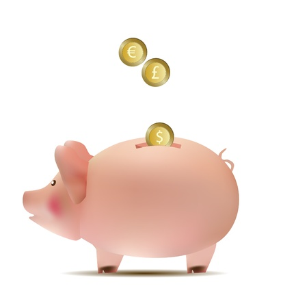 money box: piggy bank