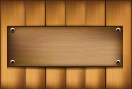 wooden template Vector