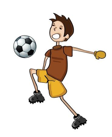 kicking ball: football