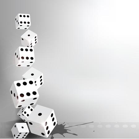 fortune concept: dices