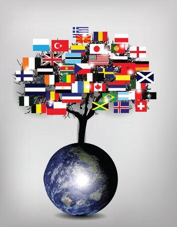 tree flags photo