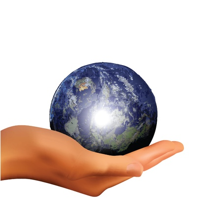 earth in hand Stock Photo - 11647998