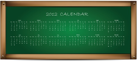 Calendar on School Board  Vector