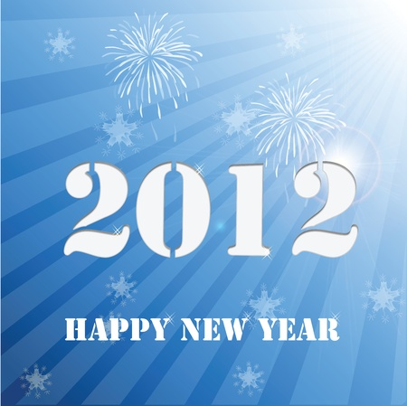 number eleven: 2012 Happy New Year Background  Illustration