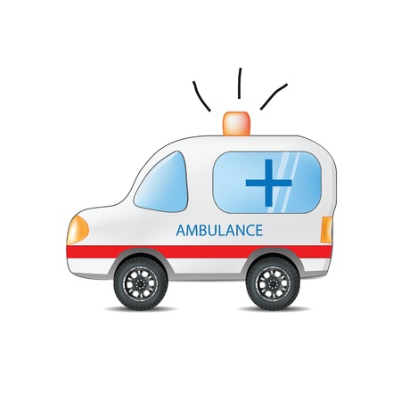 emergency services: Funny Cartoon Ambulance