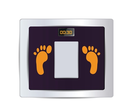 weight scale: Body Fat Scale Isolated