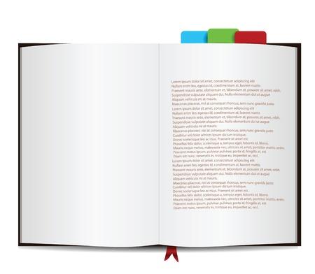 sample text: Libro aislado en blanco con el texto de ejemplo Vectores
