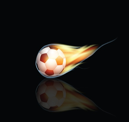 Burning Soccer Ball Stock Vector - 12437165