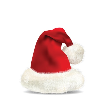 Santa Claus Hat Isolated on white  Vector