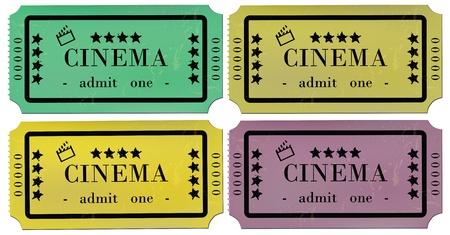 cinema ticket: Cinema Tickets Set  Illustration