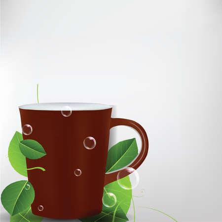 chinaware: Mug Background  Illustration