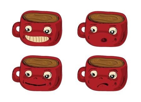 mugs Hand drawn Stock Vector - 12436968