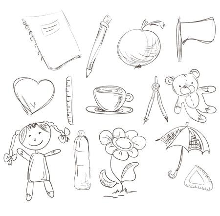 hart: Hand Drawn Design elements  Illustration