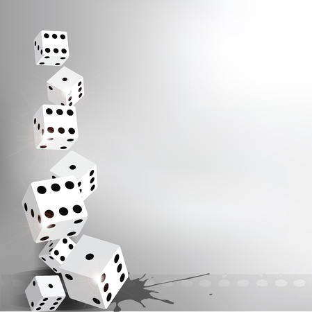 game of chance: Dices Background
