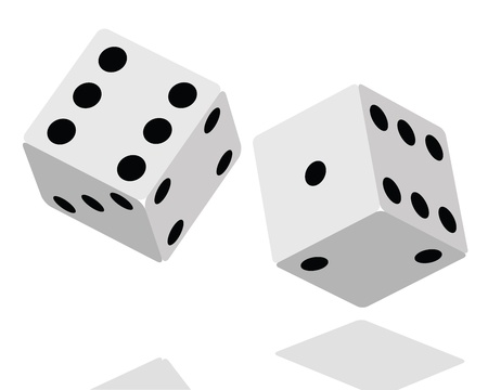 Dices Background  Vector