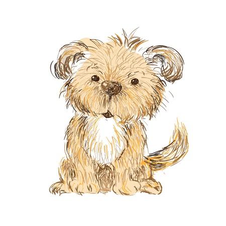 perro caricatura: Perro Aislado
