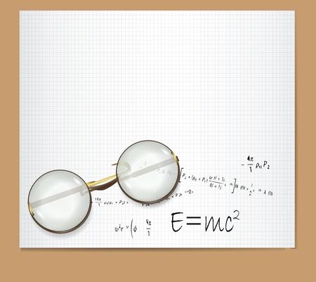 E=mc2 Theory of Relativity  Illustration