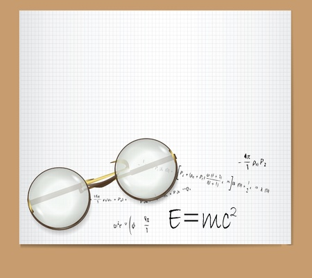 E=mc2 Theory of Relativity  Illustration