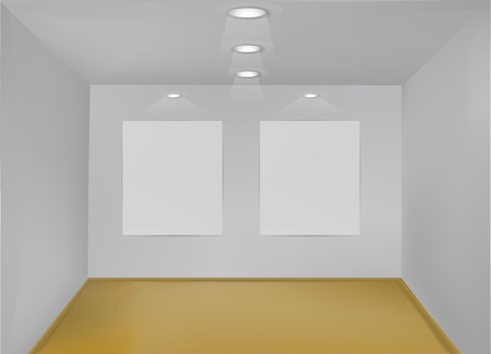 Empty Gallery Room  Stock Vector - 12436908