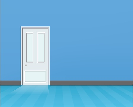 Empty Blue Room  Vector