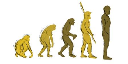 evoluer: Evolution main-Draw Illustration