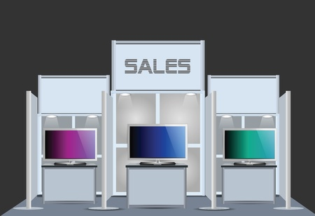 Exhibition Stand Stock Vector - 12436971