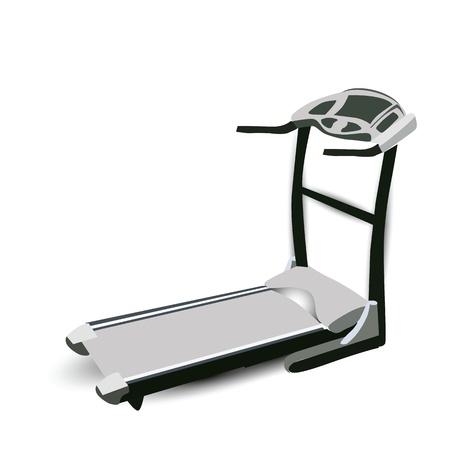 gym equipment: Fitness Macchina Walking Vettoriali