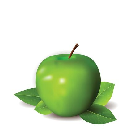granny smith apple: Green Apple Background