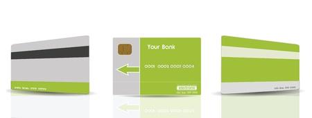mastercard: Green Credit Cards Templates