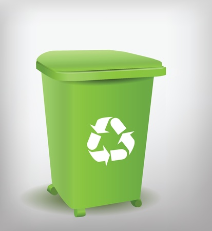 plastic recycling: Green Recycle Bin