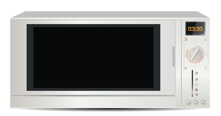 Microwave Isolated on White  Vector