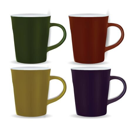 Collection of four mugs  Stock Vector - 12437319