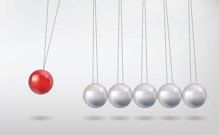 contrasts: newtons cradle Illustration