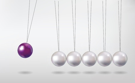 newton's cradle Vector