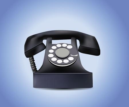 rotary: Telephone Isolated  Illustration