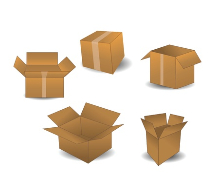 packer: Boxes isolated on white