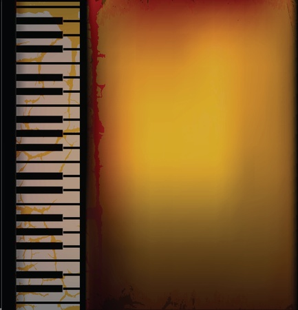 Piano Music Retro Background