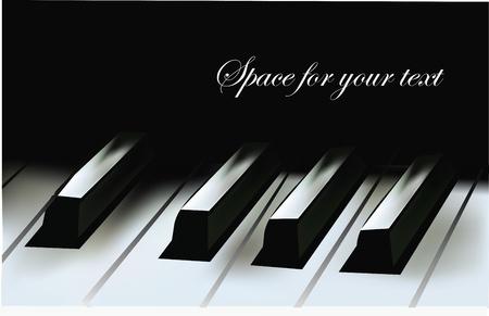 Realistische Piano Toetsen Stock Illustratie