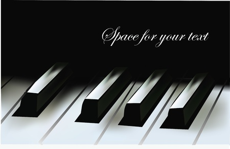 grand piano: Teclas de piano realistas